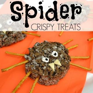 Spider Crispy Treats Recipe with Cocoa Pebbles