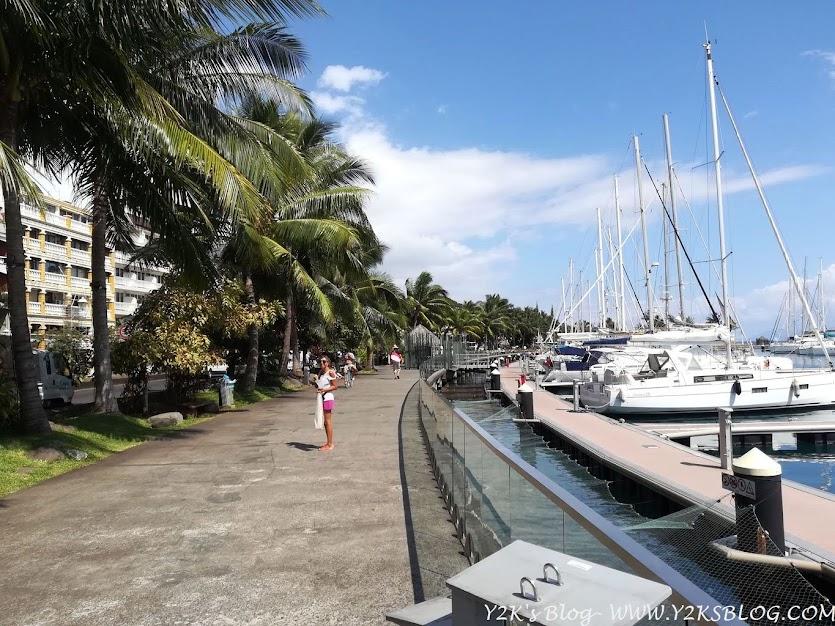 La passeggiata di Papeete e il marina.