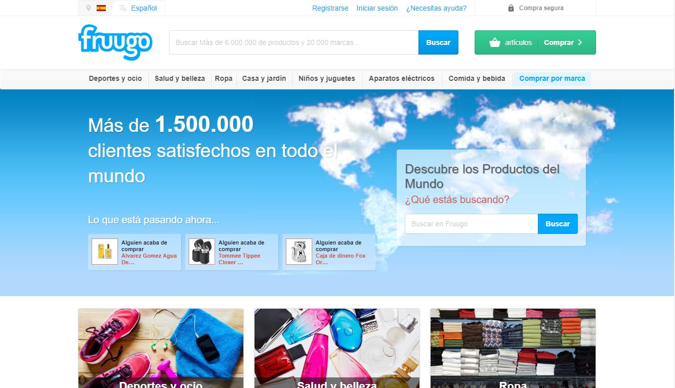 Homepage Fruugo
