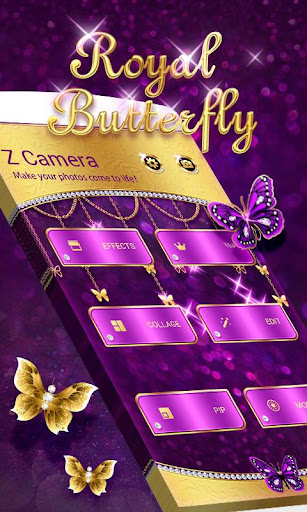 Z CAMERA ROYAL BUTTERFLY THEME screenshot