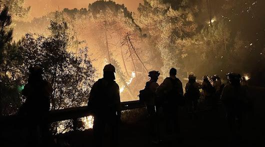 """""""Funeral íntimo"""" para el bombero fallecido, que ya está en Almería"""