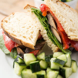 Vegan Sourdough Portobello Mushroom Sandwich.