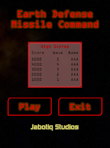 Earth Defense Missile Command screenshot 0