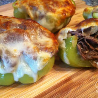 Philly Cheesesteak Stuffed Peppers – Low Carb, Gluten Free.