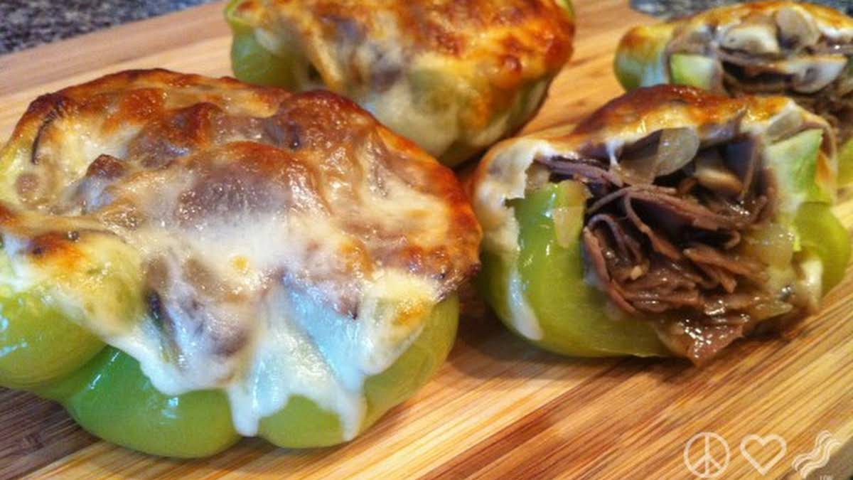 Philly Cheesesteak Stuffed Peppers Low Carb Gluten Free