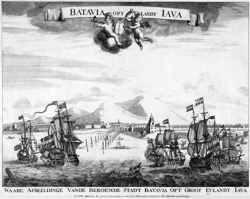 De haven van Batavia