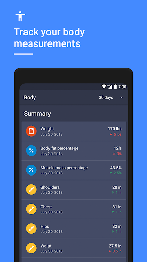 Gym Workout Tracker & Planner for Weight Lifting 1.38.0 Screenshots 7