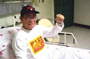 Crispin Beltran sa Philippine Heart Center | Larawan mula sa Arkibong Bayan at Anakpawis