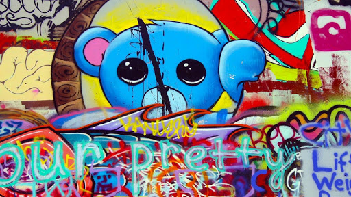 dress - Graffiti Cool art wallpaper video
