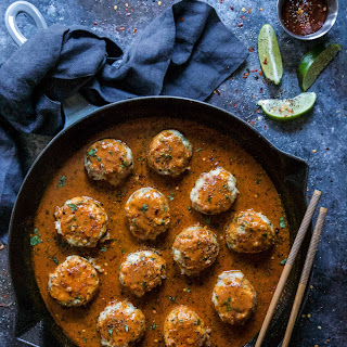 Thai Red Curry Chicken Meatballs.
