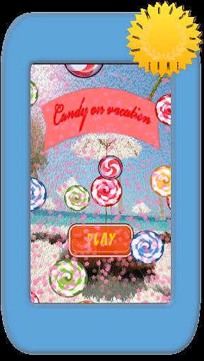 休暇にキャンディ