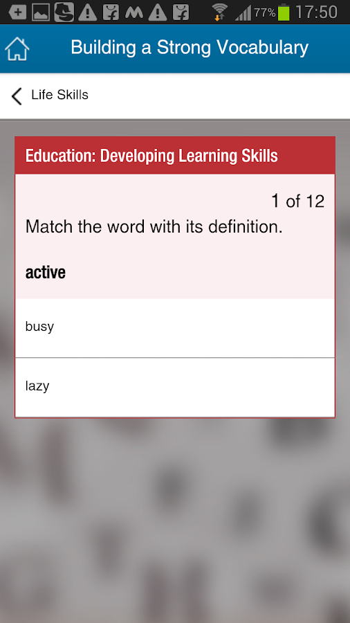 Building a Strong Vocabulary- screenshot