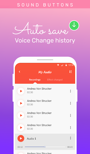 Voice changer: Voice editor - Funny sound effects hack tool