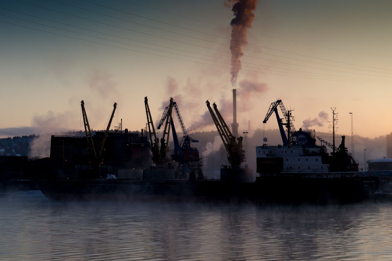 Photo: Cold winter morning by the quay