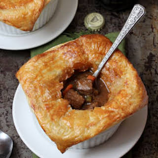 Beef and Guinness Pies with Puff Pastry.