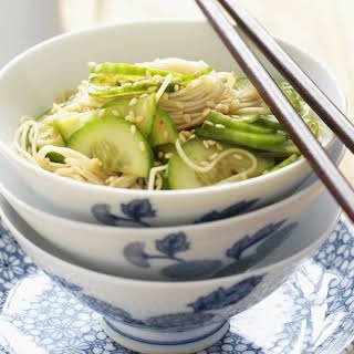 Japanese Noodles with Cucumber.