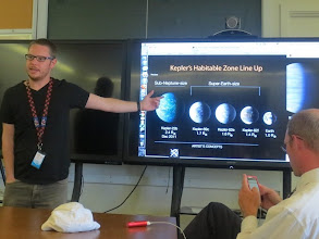 Photo: Dr. Tom Barclay of the Kepler Team giving us the rundown on possibly inhabited or habitable planets...