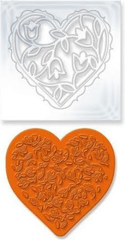 Tonic Studios Rococo Die and Stamp Set - Floral Heart 1045E UTGÅENDE