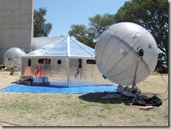 Ingenuity and innovation at the edge: Inflatable sattellite dishes, and quickly assembled weather-friendly shelters.