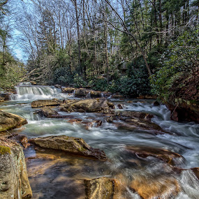 Deckers Creek, Morgantown, WV by Jozette Spacht - Landscapes Waterscapes
