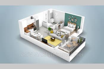 Appartement 2 pièces 39,71 m2