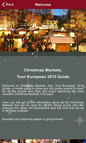 android Christmas Markets Europe 2015 Screenshot 1