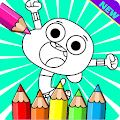 Coloring Book For Gumball And Darwin