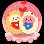 Cute Sheep Love Theme Icon