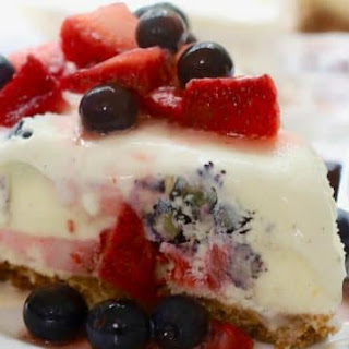 Red, White, and Blue Ice Cream Pie.