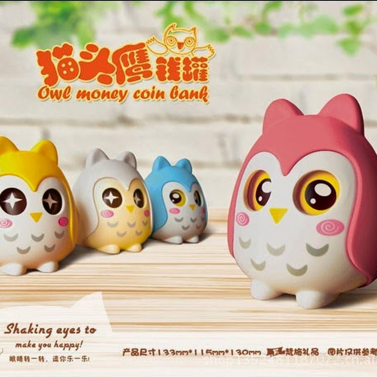 Super Cutie Owl Money Coin Bank by SPP ONLINE TRADING
