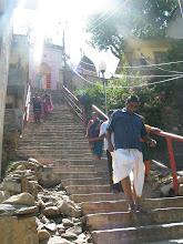 Photo: If we try to approach emperuman he will come down to bless us. Deva Prayag temple steps - Kanda mennum kadi nagar