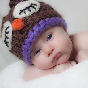 McKinley by Jill French - Babies & Children Babies ( girl, purple, brown, baby, owl hat,  )