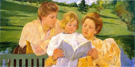 "Photo: Mary Cassatt, ""Famiglia in lettura"" (1901)"