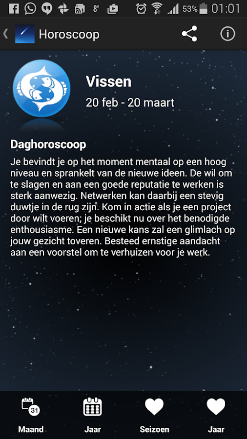 Horoscoop (Nederlands): screenshot