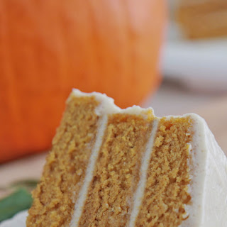 Pumpkin Spice Cake w/ Cinnamon Cream Cheese Frosting