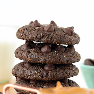 Double Chocolate Flourless Peanut Butter Cookies