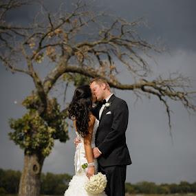 by Devyn Drufke - Wedding Bride & Groom ( wedding, white bear lake, posed )