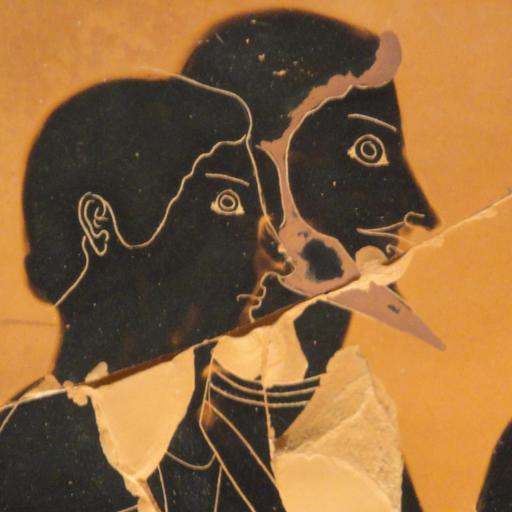 Vase à figure noire