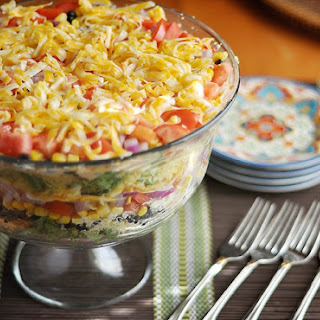 South by Southwest Layered Cornbread Salad.