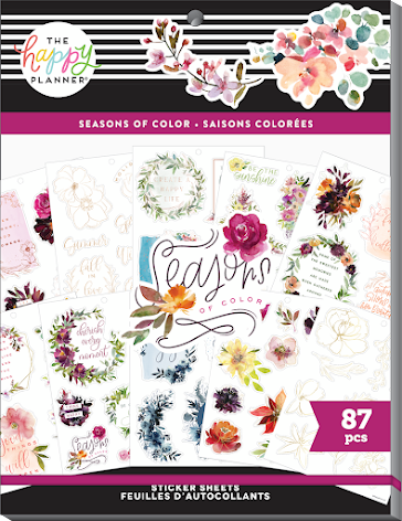 Me & My Big Ideas Happy Planner Large Stickers Value Pack - Seasons of Color 87