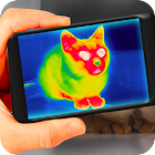 Thermal vision camera effects icon