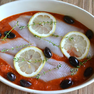 Baked Sole in Fresh Tomato Sauce