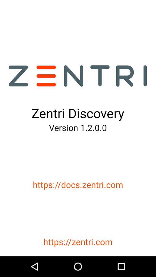 Zentri Discovery- screenshot