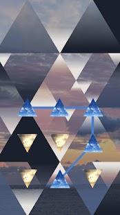 Sky APP Lock Theme Triangle Pin Lock Screen - náhled
