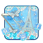 Turquoise Diamond Eiffel Tower Theme APK icon