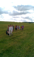 Photo: We then made the long trip along the 'Cursus' - the processional route of our ancestors