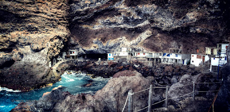 Photo: This is Poris de Candelaria, Tijarafe/ La Palma, Canary Islands  It's an old smuggler's cove, with overhanging rocks as high as 60 m!
