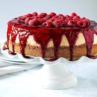 Boozy Raspberry Lemon Souffle Cheesecake.