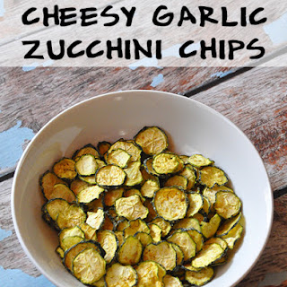 Cheesy Garlic Zucchini Chips