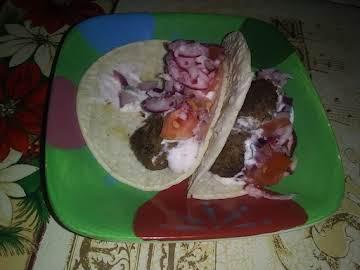 Cilantro Meatball Tacos